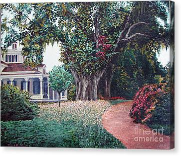 Live Oak Gardens Jefferson Island La Canvas Print