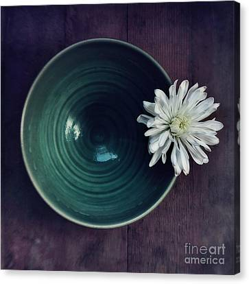 White Flower Canvas Print - Live Simply by Priska Wettstein