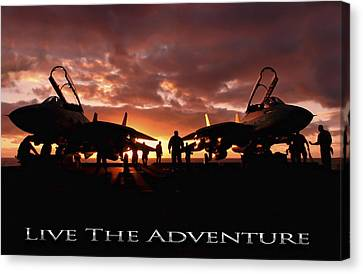 Live The Adventure Canvas Print by Peter Chilelli