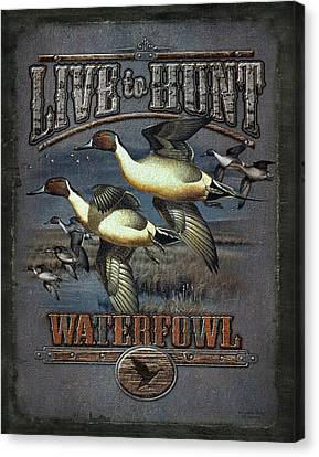 Live To Hunt Pintails Canvas Print by JQ Licensing