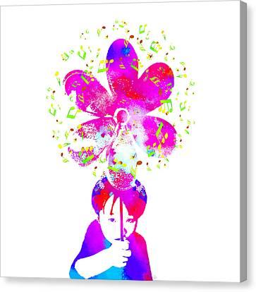 Live Your Music - Purple Canvas Print