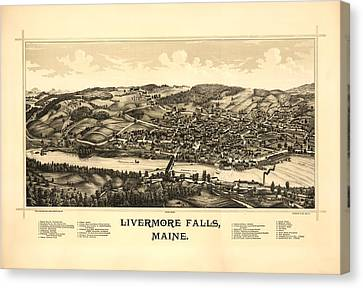 Livermore Falls Maine Canvas Print by Mountain Dreams