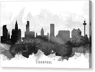 Liverpool Cityscape 11 Canvas Print by Aged Pixel