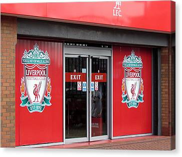 Liverpool Cloub Shop. Canvas Print