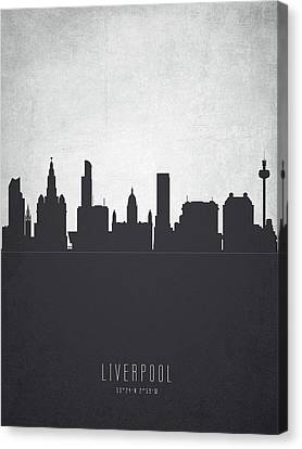 Liverpool England Cityscape 19 Canvas Print by Aged Pixel