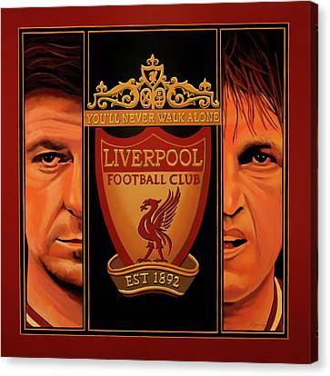 Coach Canvas Print - Liverpool Painting by Paul Meijering