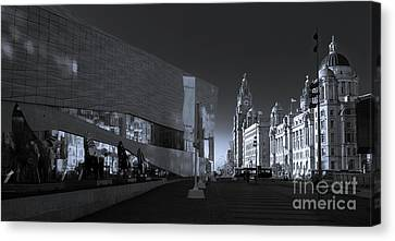 Liverpool, Traditional And Modern Canvas Print by Philip Preston