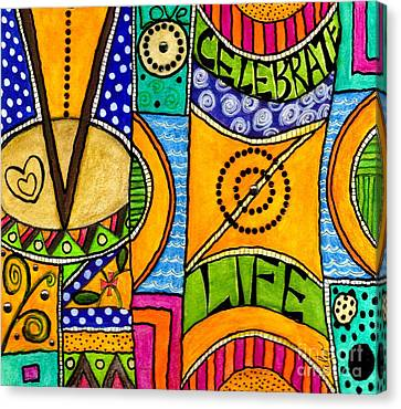 Living A Vibrant Life Canvas Print by Angela L Walker