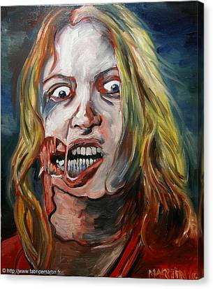 George Romero Canvas Print - Living Dead Girl By Fabrice Martin by Fabrice MARTIN