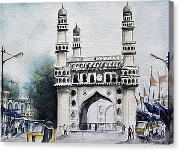 Living History Charminar Hyderabad Canvas Print