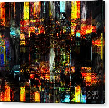 Living In Fragments Canvas Print by Fania Simon