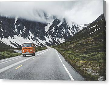 Winter Roads Canvas Print - Living The Dream by Aldona Pivoriene
