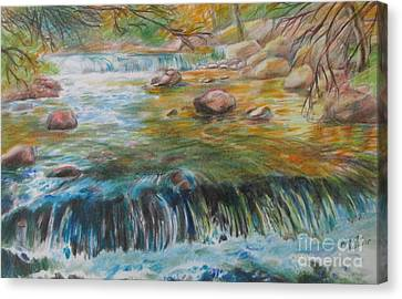 Living Water Canvas Print by Jeanette Skeem
