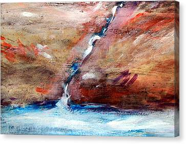 Canvas Print featuring the painting Living Water by Winsome Gunning