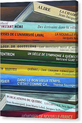 Livres ... Canvas Print by Juergen Weiss