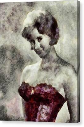 Liz Fraser, Carry On Actress Canvas Print