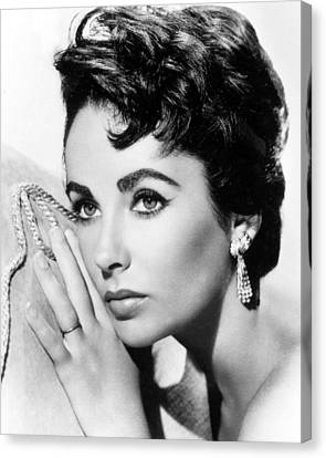 Profile Canvas Print - Liz Taylor by American School