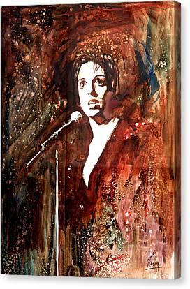 Liza Canvas Print by Marcelo Neira