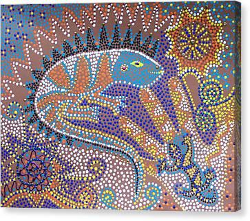 Lizard Dreaming Canvas Print