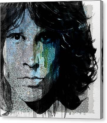 Lizard King  Jim Morrison  Canvas Print by Paul Lovering