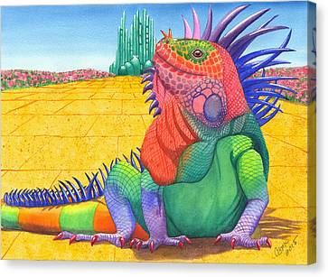 Lizard Of Oz Canvas Print by Catherine G McElroy
