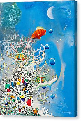 Liza's Reef Canvas Print by Lee Pantas