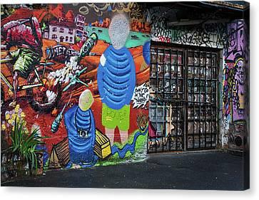 Canvas Print featuring the photograph Ljubljana Graffiti #3 - Slovenia by Stuart Litoff