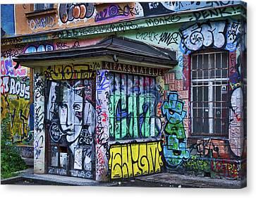 Canvas Print featuring the photograph Ljubljana Grafitti #2 - Slovenia by Stuart Litoff