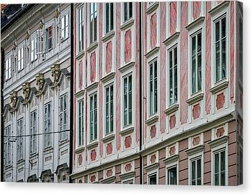 Canvas Print featuring the photograph Ljubljana Windows #3 - Slovenia by Stuart Litoff