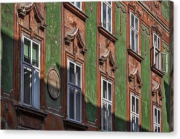Canvas Print featuring the photograph Ljubljana Windows #2 - Slovenia by Stuart Litoff