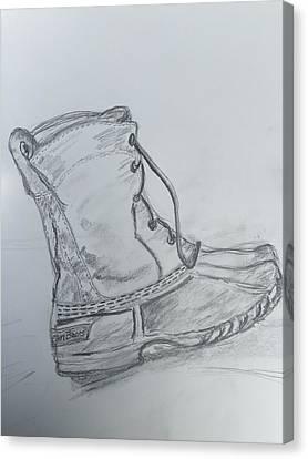 Ll Bean Boot  Canvas Print by Chris Howe