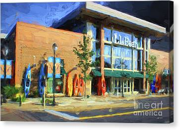 Ll Bean Store At The Promenade In Pa Canvas Print by Heinz G Mielke