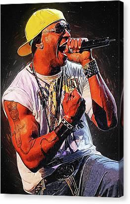 Lil Wayne Art Canvas Print - Ll Cool J by Semih Yurdabak