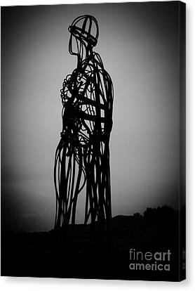 Chris Evans Canvas Print - Llanbedrog Sculpture by Chris Evans