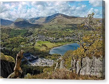 Chris Evans Canvas Print - Llanberis Viewpoint by Chris Evans