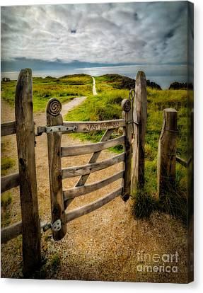 Llanddwyn Island Gate Canvas Print by Adrian Evans