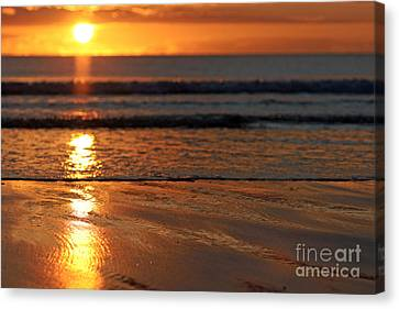Llangennith Beach Sand Textures Canvas Print