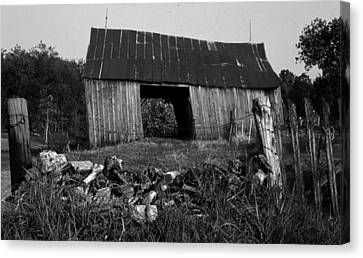 Canvas Print featuring the photograph Lloyd-shanks-barn-4 by Curtis J Neeley Jr