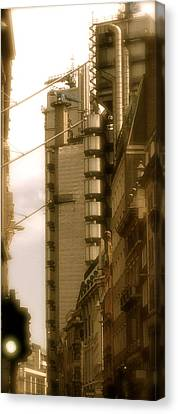 Lloyds Of London Building Canvas Print by John Colley