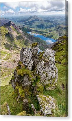 Llydaw And Glaslyn Lakes Canvas Print