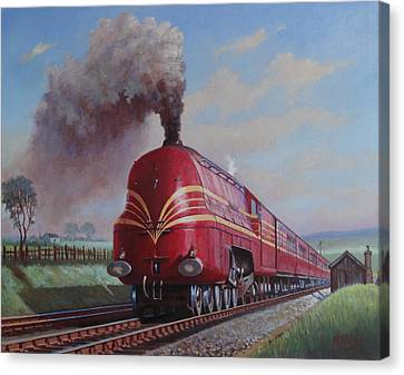 Lms Stanier Pacific Canvas Print by Mike  Jeffries