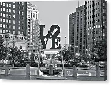 Rocky Statue Canvas Print - Lo  Ve by Frozen in Time Fine Art Photography