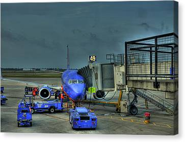 Loading Luggage Canvas Print