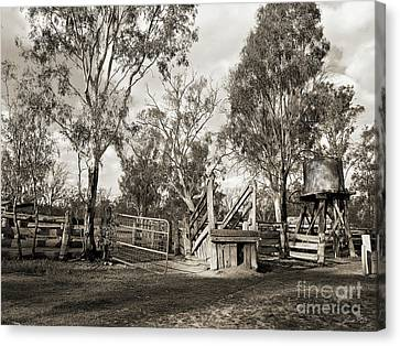 Canvas Print featuring the photograph Loading Ramp by Linda Lees