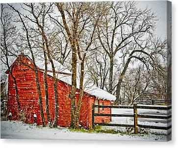 Loafing Shed Canvas Print by Marilyn Hunt
