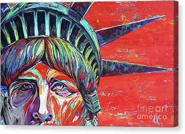 Loathing Liberty Canvas Print by David Keenan