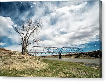 Lobato Bridge In Colorado Canvas Print by Mary Lee Dereske
