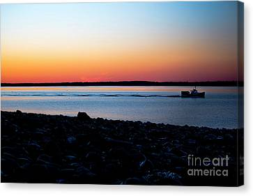Lobster Boat In Maine Canvas Print by Diane Diederich