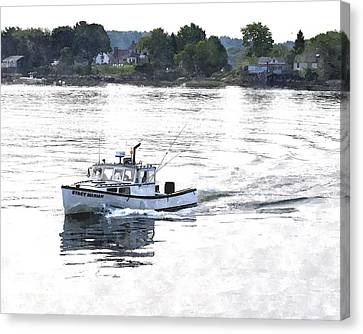 Lobster Boat Lbwc Canvas Print by Jim Brage