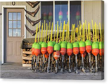 Bouys Canvas Print - Lobster Buoys Kittery Maine by Edward Fielding